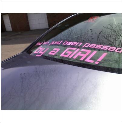 Car window decals and stickers