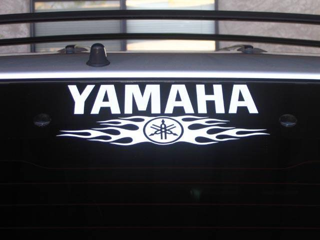 Yamaha window decal