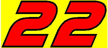 22 Race Number 2 Color Af Pespi Font Decal Sticker