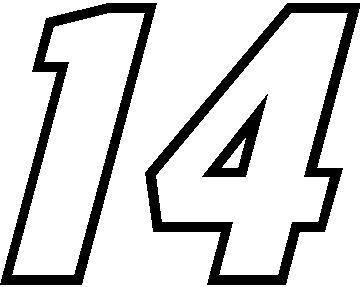 14 Race Number Motor Font Decal Sticker