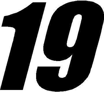 19 Race Number Impact Font Decal Sticker