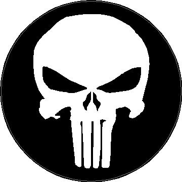 Circular punisher decal sticker