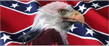 CONFEDERATE FLAG WITH EAGLE DECAL  STICKER - Rebel flag truck decals   online purchasing