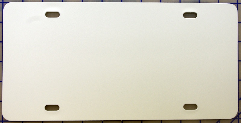zz Plastic White Blank License Plate & Miscellaneous Products :: zz Plastic White Blank License Plate