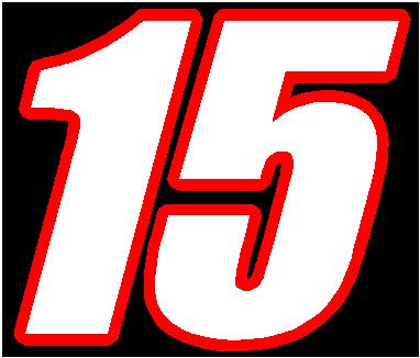 15 race number 2 color font decal sticker