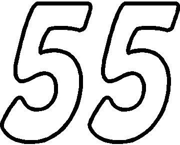 55 RACE NUMBER HOMEWARD BOUND FONT DECAL / STICKER