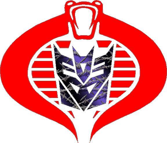 Cobra Commander Decepticon Purple Barbed Wire Decal Sticker