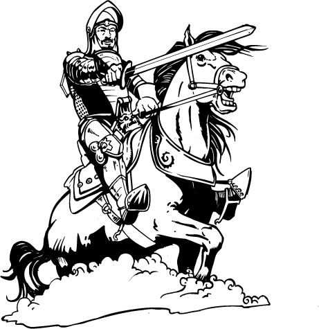 Mascot Decals :: Knights Mascot Decals :: Knight on Horse
