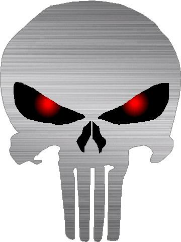 Brushed red eyed punisher decal sticker 18