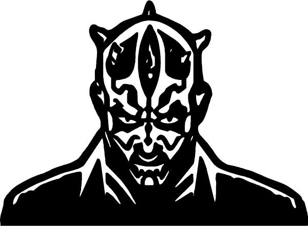 Darth Maul Line Drawing Star Wars Darth Maul Decal