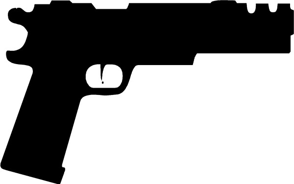 1911 compensated gun decal sticker this white rectangle is not part of the decal