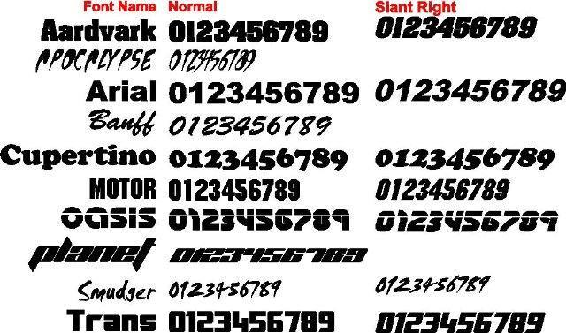 Boat License Number Stickers