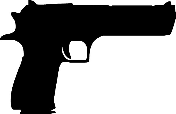 Desert eagle gun decal sticker this white rectangle is not part of the decal