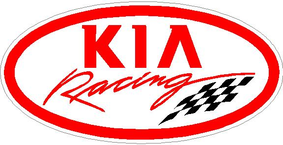 Kia racing decal sticker 04 this white rectangle is not part of the decal