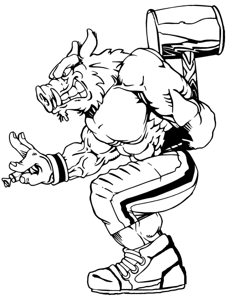 football mascot coloring pages - photo#9