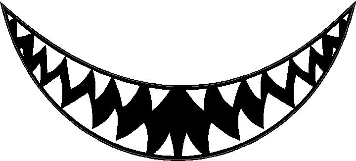 shark teeth coloring pages - animal decals shark teeth decal sticker