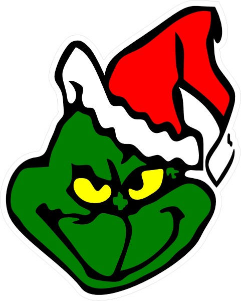 GRINCH DECAL / STICKER 04