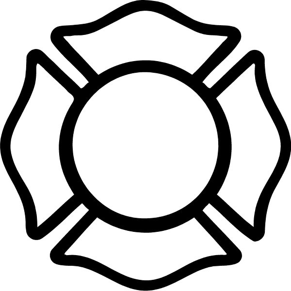 firemen coloring pages and fireman maltese cross decal sticker 01