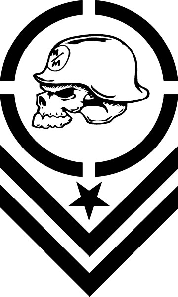 Metal Mulisha Skull Decal Sticker 01 This White Rectangle Is NOT Part Of The