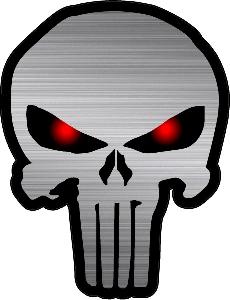 Brushed red eyed punisher decal sticker 21