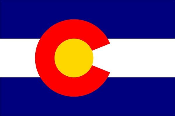 Colorado flag decal sticker