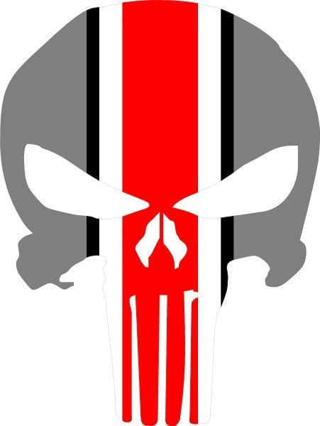 Ohio state punisher decal sticker 37 this white rectangle is not part of the