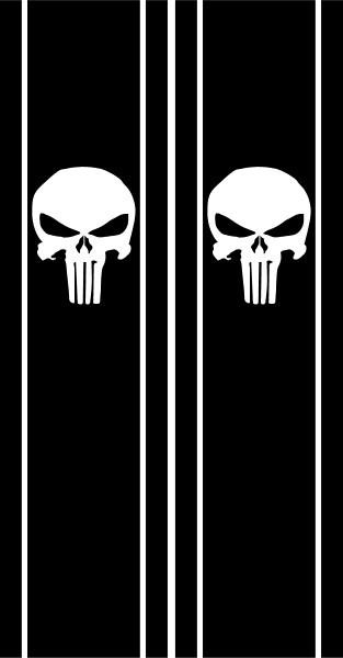 Punisher Truck Bed Stripe Decals Stickers 02