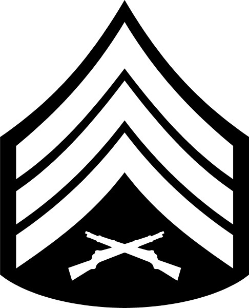 Usmc Sergeant Chevron Decal Sticker 03