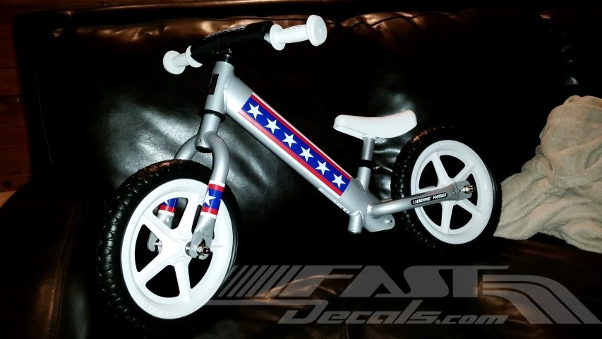 Evel knievel stripe decal sticker 01