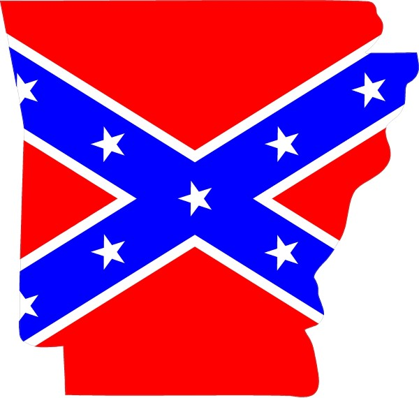 Arkansas rebel confederate flag decal sticker 03 this white rectangle is not part