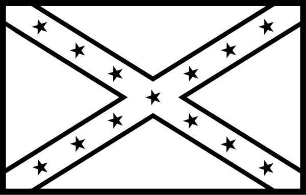 rebel flag heart coloring pages - photo#10