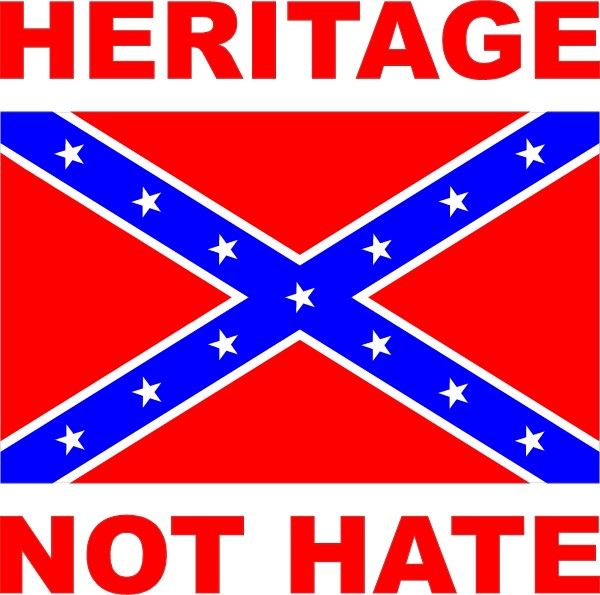 the rebel flag hate or heritage The confederate flag: hate  other southerners, the flag is a symbol of pride and heritage  heritage or hate.