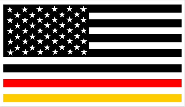 American german flag decal sticker 01