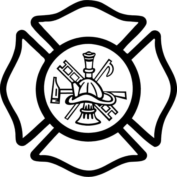 Fireman Maltese Cross Decal / Sticker 04
