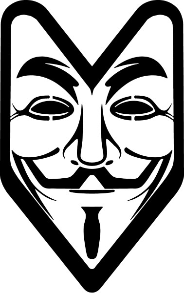 V for vendetta anonymous jdm decal sticker 07