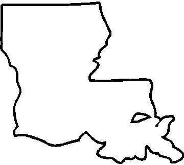 State and Country Decals :: Louisiana Decal / Sticker 02