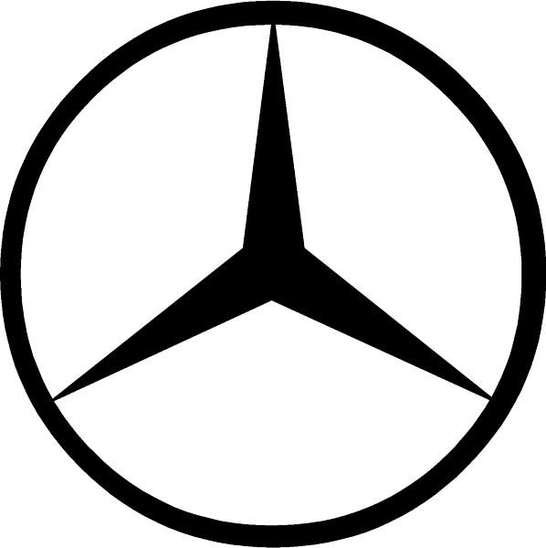 Mercedes logo decal for Mercedes benz decal