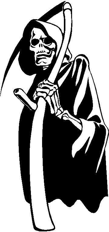 Grim reaper design decal sticker design 1