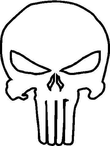 Gallery For gt Punisher Skull Outline