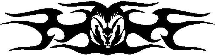 Ram tribal decal sticker 08 this white rectangle is not part of the decal
