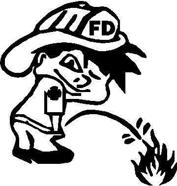 Z1 Pee On Decal / Sticker   Fire Boy Design