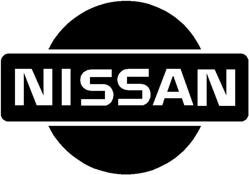 Standard nissan logo decal sticker this white rectangle is not part of the decal