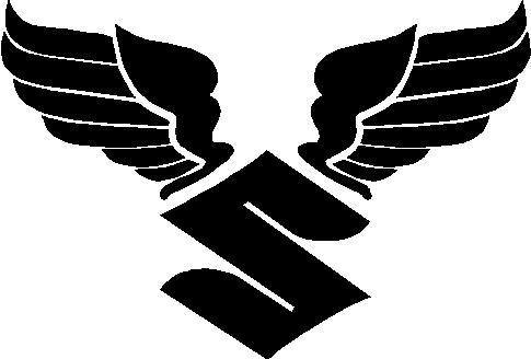 Suzuki Decals  Suzuki Wings Decal  Sticker - Stickers for motorcycles suzuki