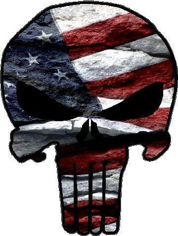 American Flag Punisher Decal Sticker 03