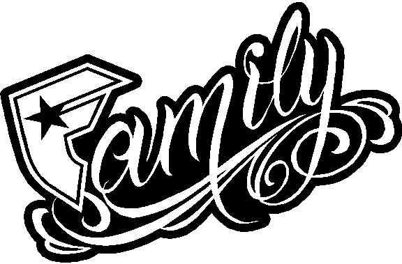 Famous Family Logo Famous Family Decal Sticker