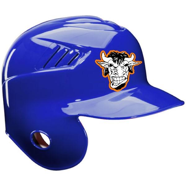 Black baseball helmet decal sticker blue baseball helmet decal sticker