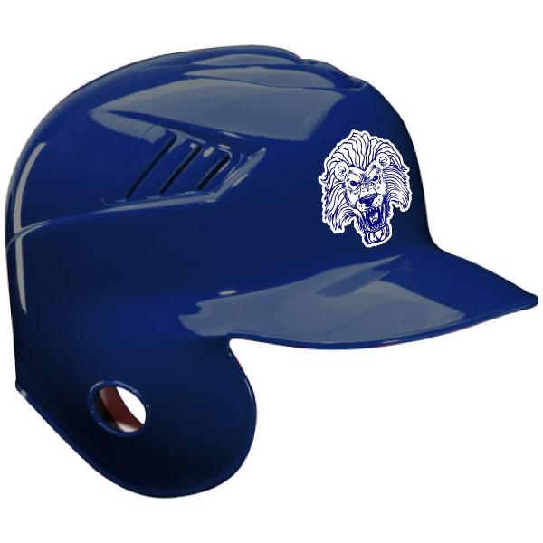 Dark blue baseball helmet decal sticker