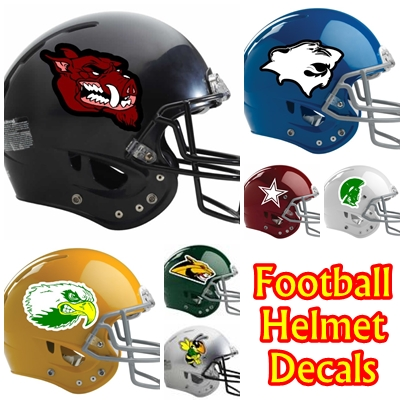 Baseball helmet decals football helmet decals