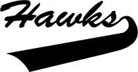 Hawks / Falcons Mascot Decal / Sticker
