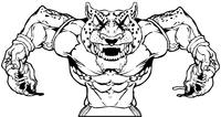 Football Jaguars Mascot Decal / Sticker
